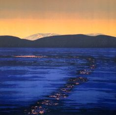 Eva Harr Promised Land, Scandinavian Art, Landscape Paintings, Landscapes, Scenery, River, Mountains, Photography, Outdoor