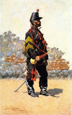 Frederic Remington, Bugler on Cavalry, 1889, Oil on canvas laid down on panel, 71,12 x 45,72 cm, James A. Michener Art Museum, Doylestown, Pennsylvania