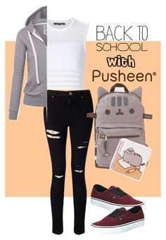 """""""#PVxPusheen"""" by eileenelizabeth ❤ liked on Polyvore featuring Thakoon, Miss Selfridge, Pusheen, Vans, contestentry and PVxPusheen"""