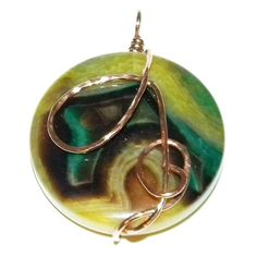 Wire Wrapped Dragons Vein Agate Pendant by PrayerfullyMade4You, $45.00