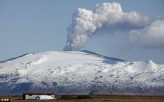 Geography: This is a picture of one of Iceland's many volcanoes. Iceland is home to some of the most active volcanoes in the world. The country itself is actually growing 5cm each year. There are also lots of glaciers in Iceland. According to iceland.is eleven percent of the country is covered by glaciers. Landscape of Iceland consists of geysers, waterfalls, volcanoes, black sand beaches and steaming lava fields.