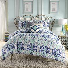 Anthology™ Jolie Reversible Comforter Set in Blue
