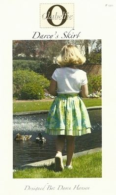 Darcy's skirt pattern for girls by Olabelhe, available at www.chadwickheirlooms.com