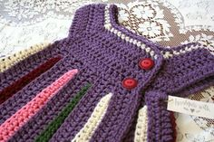 Eloise Rainbow Baby Girl Sweater / Purple / Unique by WychburyAve