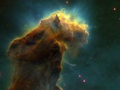 """Eagle Nebula Gas Pillars - also known as """"The Pillars of Creation"""""""