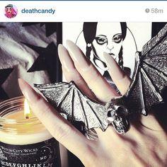 These nails from @deathcandy #stiletto #nails #stilettonails #nailstagram