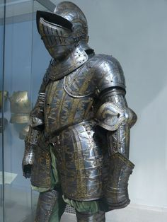 Armor of Henry Herbert Second Earl of Pembroke etched and gilt English Greenwich about 1575-1580 CE
