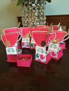 Teacup chocolate boxes