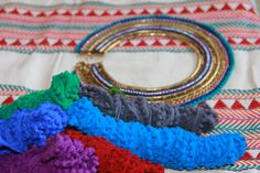 The #cotton and rayon #yarn used in the wrapping of our #Boho #necklace, alongside another #neckpiece from the #Rangrez #collection- Nefertiti.