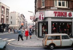 smith street on the corner of the kings road in 1969