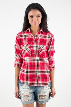 Rustic Lodge Flannel Top, Nectar Clothing