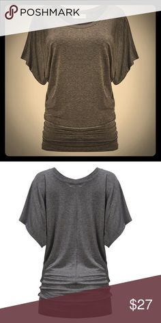Darla Top Short sleeved Darla Top. Loose fitting at the top and a bunched up look at the bottom. Fits great with anything. Stylish & Comfy. Available in Charcoal Gray, Black, or Navy.    ____________________________________  [Trindy Clozet Boutique Policies]  ✅ Next Business Day Shipping (possibly same day) ✅ Retail prices are firm unless bundled.  ✅ No trades.  Find more styles on our website@  Spreesy.com/trindyclozet  Insta trindy_clozet FB TrindyClozet Twitter trindyclozet Tops Tees…