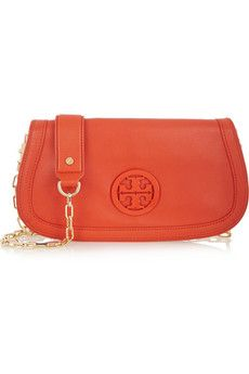 Tory Burch Amanda textured-leather clutch+|+THE OUTNET