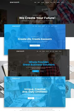 AWOSOM is a Creative Modern, Elegant and Multi-purpose PSD Template. AWOSOM PSD Template designed for convert into Wordpress, Joomla, Other systems, Other Web Design, Design Trends, Modern Design, Layout Site, Ui Elements, Photoshop Tutorial, Psd Templates, User Interface, Website Template