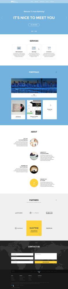redesign website for Vuna Marketing