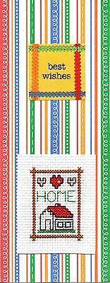 Handmade Cross Stitch New Home Good Luck Cards £1.25