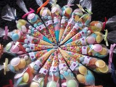 Sweet cones Set of 25 party favours by SweetGiftsandTreats