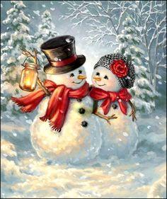 Bonhomme de neigeen illustration parDona Gelsinger