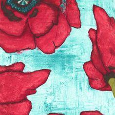 Laura Gunn - Poppy - Big Poppy in Aqua