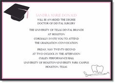Open wide!  Celebrate the dental school graduate with this invitation.  By IB Designs.