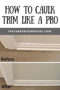 Home Renovation Hacks How to caulk trim like a pro! If you're looking for tips to caulk trim, this is it. These easy tips to caulk trim will make your interior look polished and professional. This is the easiest way to get beautiful baseboards and trim Home Improvement Loans, Home Improvement Projects, Home Projects, Home Improvements, Home Renovation, Home Remodeling, Bathroom Remodeling, Basement Renovations, Louisiana