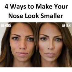 Discreet natural makeup for beginners! – – Make Up Arts Nose Makeup, Contour Makeup, How To Contour Nose, Contouring For Beginners, Makeup For Beginners, Nose Contouring, Contouring And Highlighting, Make Nose Smaller, Nose Highlight