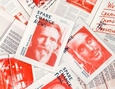 """Check out this @Behance project: """"Spare Change News"""" https://www.behance.net/gallery/16861787/Spare-Change-News"""