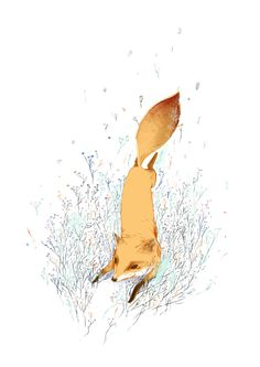 Fox by Celina de Guzman • http://www.partfaliaz.com/illustrators/death-illustrations-by-celina-de-guzman/ • https://society6.com/celdee/s?q=popular+prints