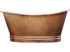 Hand hammered copper bathtub with patina. Antique, light, dark and rustic color polished by Rustica House. #myrustica