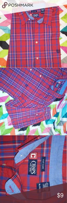 Mens XL Button Up Barely worn in excellent condition. Chaps Shirts Dress Shirts