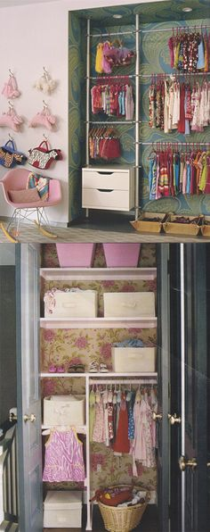 I want to wallpaper the back of my girls' closets and revitalize the drabness of one of the walk-ins!