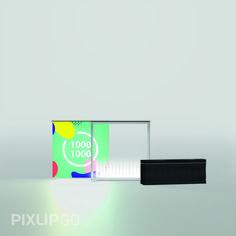 Pixlip Go Leuchttheke 1000 x 1000 mm Die individuell bedruckten Textilien machen jeden PIXLIP GO zu einem Unikat. Ändert sich die Botschaft, lassen sich die Textilien schnell und problemlos gegen neue Drucke auswechseln.