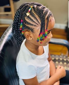 Black Baby Girl Hairstyles, Toddler Braided Hairstyles, Girls Natural Hairstyles, Cute Hairstyles, Children Hairstyles, Little Girl Braids, Braids For Kids, Girls Braids, Natural Hair Braids