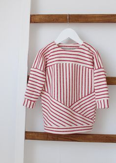 Sweater Dress PDF Sewing Pattern & Tutorial, oversized, slouchy, sweatshirt dress, Girls, Babies, Toddler