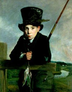 Portrait of a Boy in a Top Hat with Flies by John Opie (British 1761-1807)