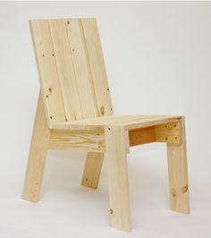 The Modern Balcony Chair 2x4 Furniture, Woodworking Furniture, Furniture Projects, Woodworking Plans, Wood Projects, Furniture Design, Pallet Chair, Diy Chair, Balcony Chairs