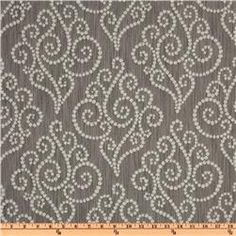 Wide Waverly Synergy Jacquard Graphite Fabric By The Yard Designer Upholstery