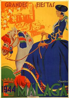 1944 Spain Malaga Girl Blue Bress Party Horseback. http://www.costatropicalevents.com/en/costa-tropical-events/andalusia/welcome.html