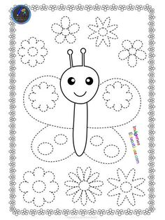 writing Butterflies Trace and Color Pages {Fine Motor Skills + Pre-writing} Motor Skills Activities, Kids Learning Activities, Fine Motor Skills, Preschool Activities, Tracing Worksheets, Kindergarten Worksheets, Worksheets For Kids, Cursive Alphabet, Preschool Writing