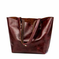 Womens Leather Large Brown Tote Tote Purse, Tote Handbags, Leather Totes, Beach Bags, Custom Bags, Vintage Handbags, Long Wallet, Card Wallet, Bucket Bag