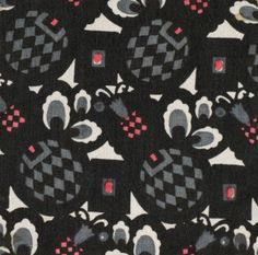 Textile design produced by the Wiener Werkstatte in the 1910s.