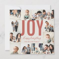 Bold 2020 New Year Seamless 12 Photo Collage Grid Holiday Card - New Year's Eve happy new year designs party celebration Saint Sylvester's Day New Year Photos, Holiday Photos, Holiday Cards, Christmas Cards, Joy Holiday, Xmas, 12 Photo Collage, Collage Art, The Wyatt Family