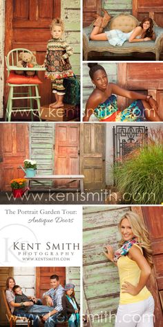 We have numerous beautiful outdoor sets in our Portrait Garden right at the studio. Featured here: Antique Doors  #photography #studio #portraits #KSP #Columbus #Ohio #KentSmithPhotography