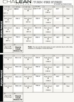 Chalean Extreme Turbo Fire Custom Hybrid Program for Busy Working Moms – Jackie Gauthier Fitness Extreme Workouts, Fun Workouts, At Home Workouts, Daily Workouts, Workout Calender, Beachbody Shakeology, Chalene Johnson, Fit Board Workouts, Workout Board