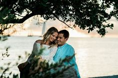 Sunset in the Florida Keys is always a good way to end an engagement session in Key West at Fort Zachary Taylor