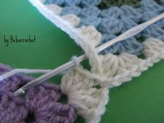 bebacrochet: Tutorial - COME UNIRE LE GRANNY O PIASTRELLE ALL'UNCINETTO
