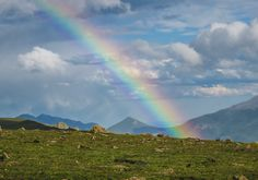 A very vivid rainbow on the continental divide