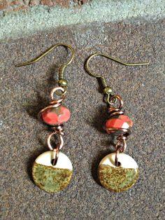 Mars Sunrise Earrings by TeaStainedBeads on Etsy, $17.00