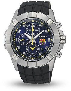 Seiko FC Barcelona Chronograph Blue Dial Stainless Steel Mens Watch SNDD81 Seiko. $160.50