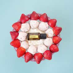 These Lemon Strawberry Bites are made with all-natural ingredients and make for the perfect portable sweet treat.